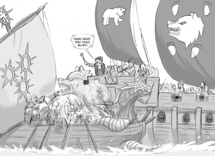 Warhammer naval Warhammer, Навал, Флот, Wh humor, Flick-The-Thief
