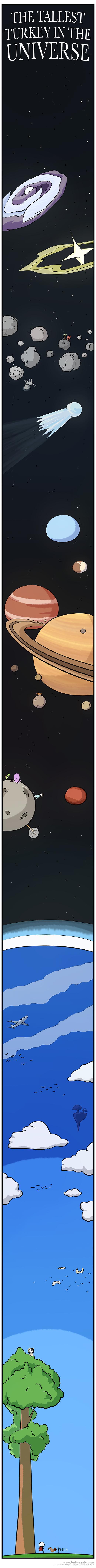 Самая высокая индейка во Вселенной Buttersafe, Комиксы, Индейка, Длиннопост