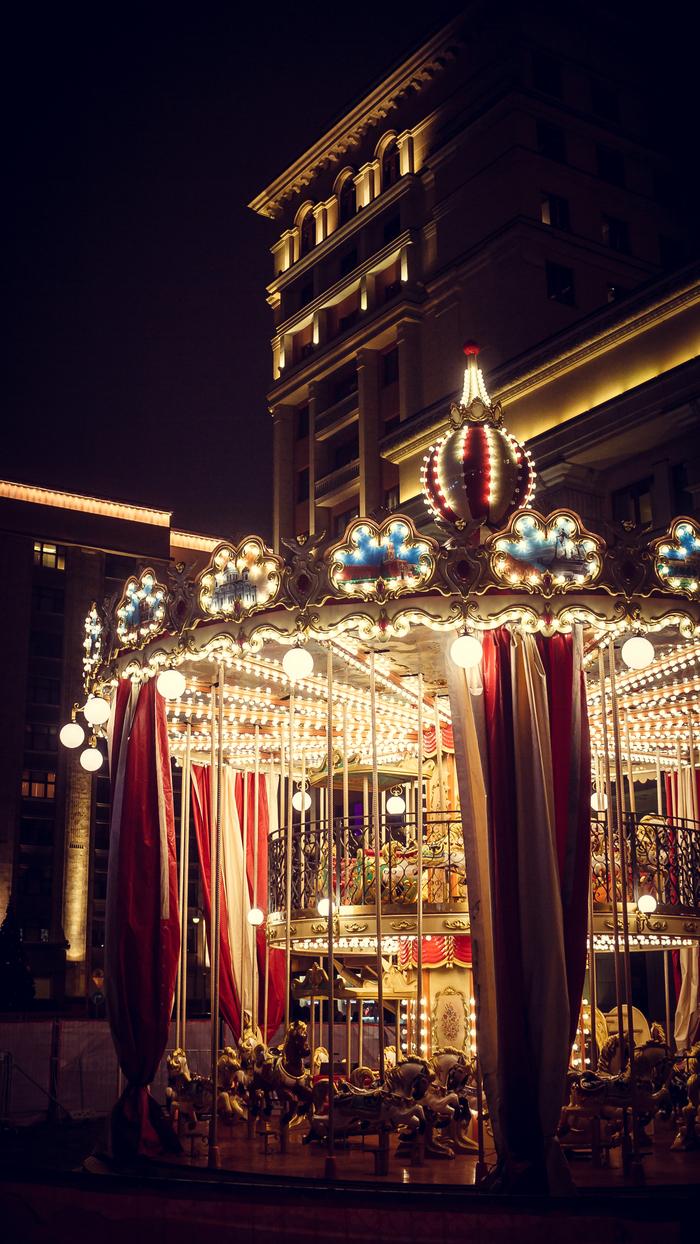 Новогоднее настроение привезли! Москва, Манежная площадь, Canon, Canon 7d, Карусель, Зима, Длиннопост