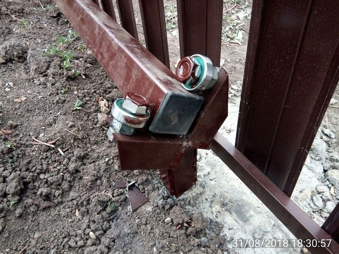Легкие откатные ворота. Откатные ворота, Ð¡Ñема Якселя, Своими руками, Длиннопост