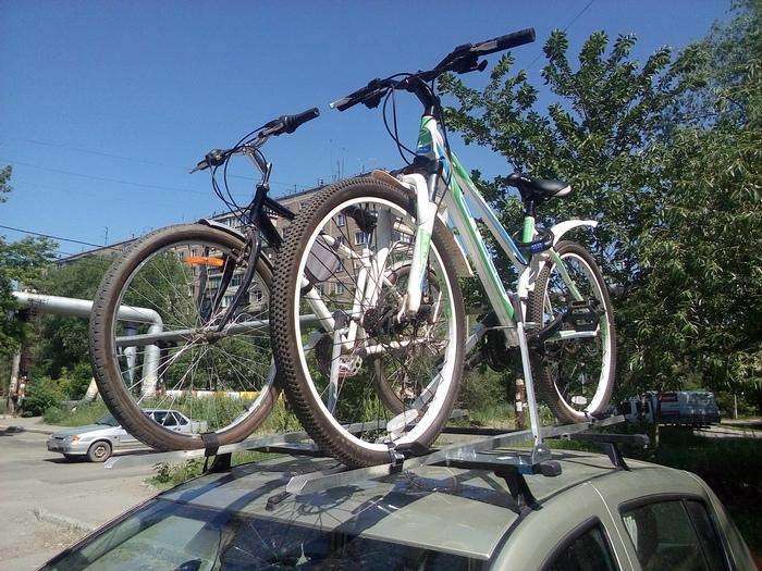 Перевозка велосипедов на крыше автомобиля. Велосипед, Велобагажник, Велокрепление, Багажник, Самоделки, Длиннопост