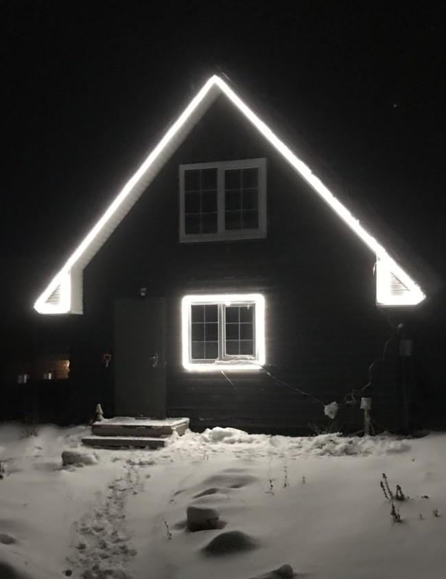 Сезон новогоднего украшения домов, открыт Неон, Светодиоды, Подсветка