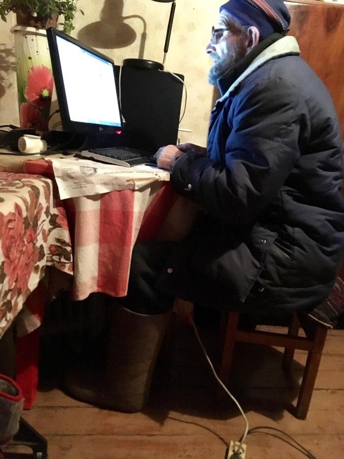 Валенки с подогревом, деревенский киберпанк Длиннопост, Дед, Валенки, Подогрев, Киберпанк