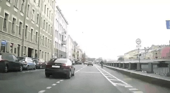 Вижу цель - иду на таран #18 ДТП, Санкт-Петербург, Цель, Прилетело, Велосипедист, Пешеходный переход, Гифка, Видео