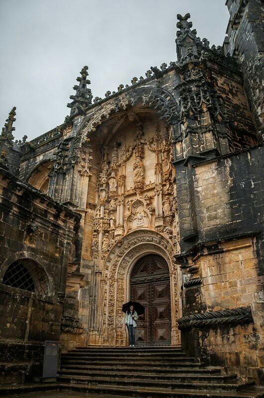 Замок ордена тамплиеров, Томар в 140 км от Лиссабона История, Тамплиеры, Замок, Красота, Готика, Архитектура, Фотография, Длиннопост, Португалия