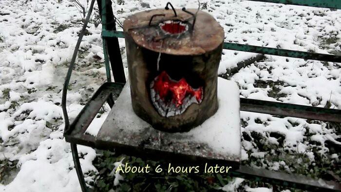 Супер печь из полена, горит более 6 часов Туризм, Полезное, Поход, Длиннопост