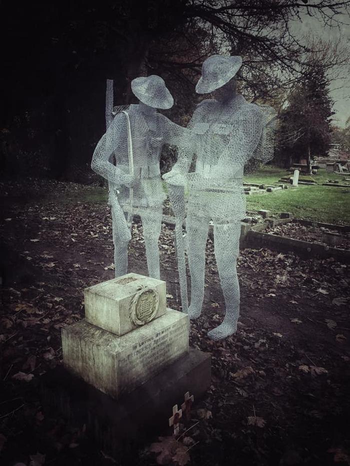 «Призрачные» скульптуры Первая мировая война, Призрак, Скульптура, Столетие окончания, Англия, Поделки из проволоки, Кладбище, Искусство