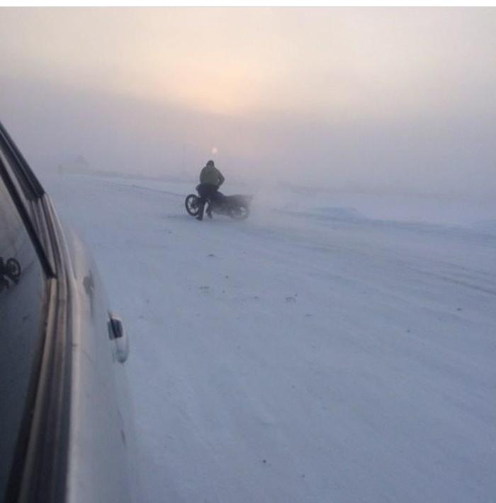 Мотосезон ещё не закрыт Якутия, Чурапча, Мотоциклы, Отмороженные люди, Мотосезон, Холод, Длиннопост