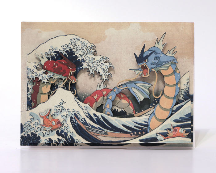 Диорама The Great Wave off Kanagawa Диорама 02a7c02c19393