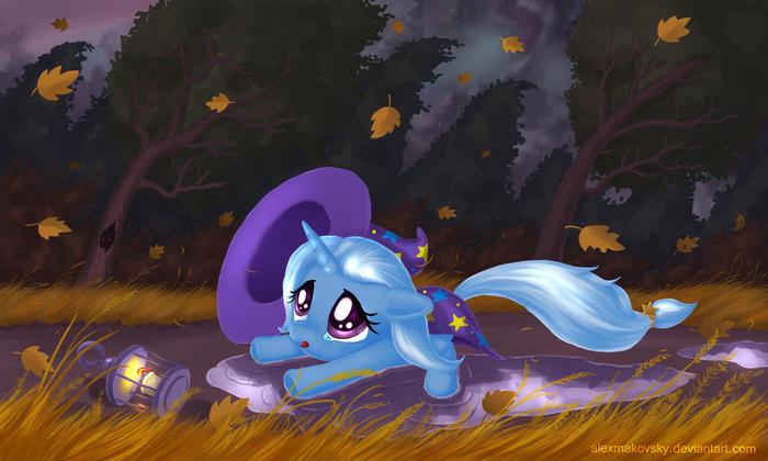 Маленькая Трикси. Совсем одна, без друзей... Trixie, Semi-Grimdark, My Little Pony