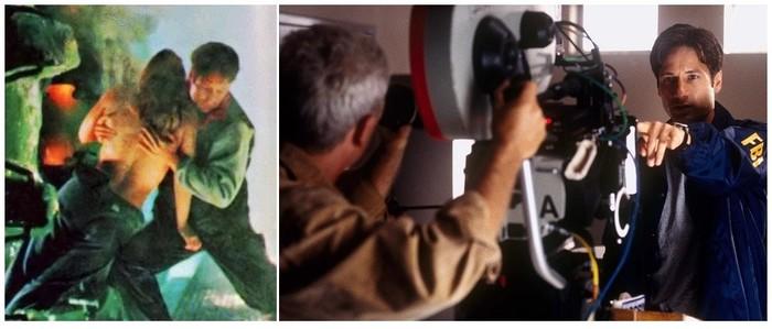 """Секретные материалы: Борьба за будущее"" (""The X Files. Fight the future"") 1998 год (За кадром) Фильмы, За кадром, Съемки, 90-е, Фантастика, Секретные материалы, VHS, Инопланетяне, Длиннопост"