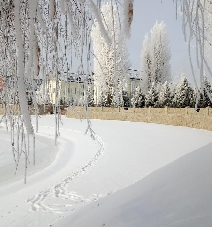 Субботнее утро на работе Снег, Саратов, Работа, Длиннопост, Фотография