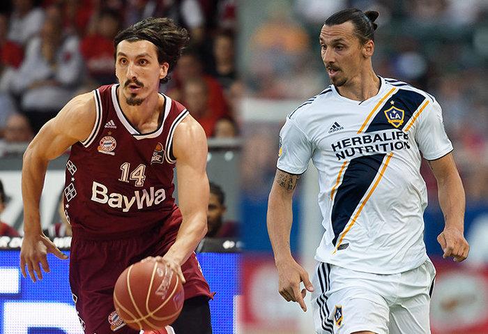 В баскетбольной Евролиге играет двойник Златана Ибрагимовича Баскетбол, Златан, Двойники
