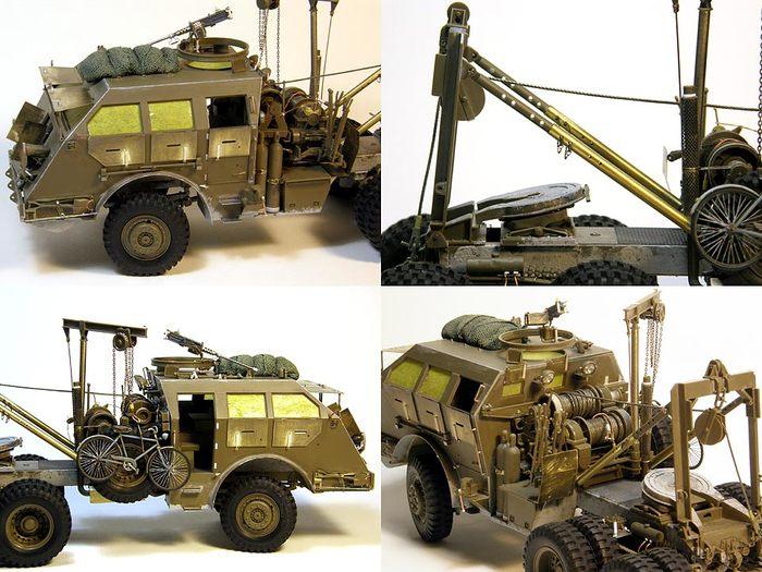 """""""Железный дракон"""" или M26 Dragon Wagon Моделизм, Стендовый моделизм, Тягач, Масштабная модель, Длиннопост"""