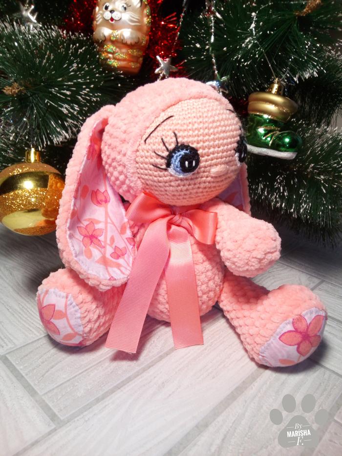 Малыш в плюшевом костюмчике Рукоделие без процесса, Вязание, Новый Год, Handmade, Мягкая игрушка, Длиннопост