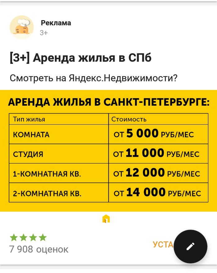 Yandex ты серьезно ? Реклама, Спам, Санкт-Петербург, Цены, Деньги, Яндекс недвижимость