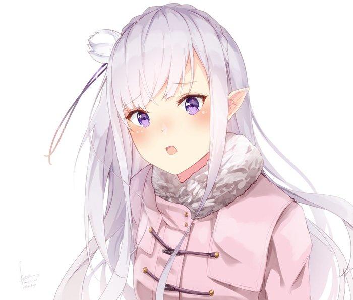 Emilia Аниме, Anime Art, Re:Zero kara, Emilia, Длиннопост