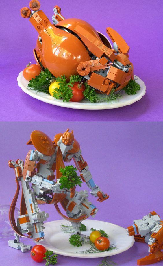 Optimus Chicken LEGO, Трансформеры, Курица, Блюдо, Фотография
