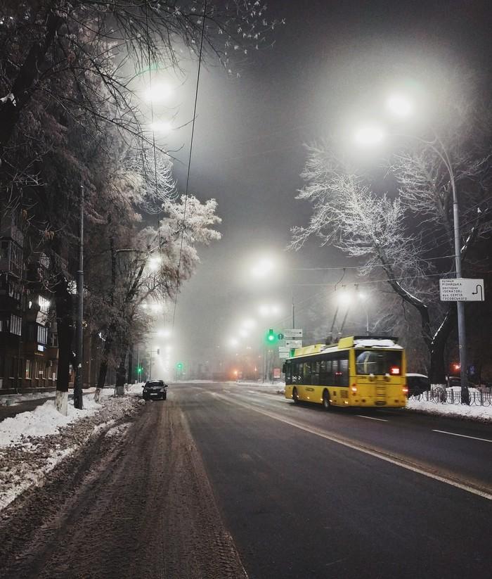 In the cold light of morning Утро, Туман, Мобильная фотография, Фотография, Улица