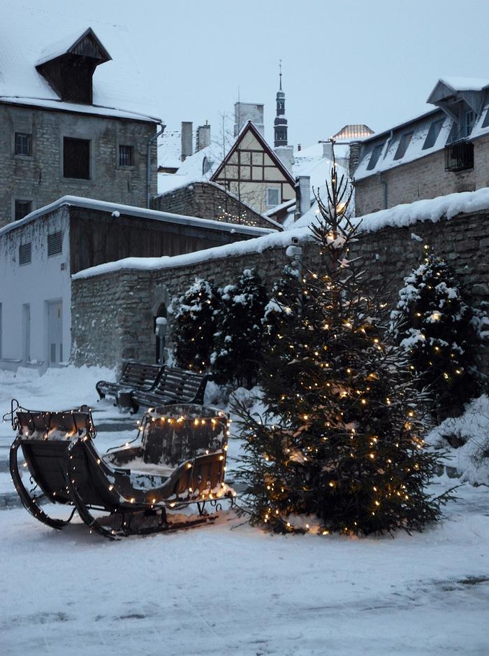 Новый год в Таллине Новый Год, Таллин, Зима, Длиннопост, Фотография