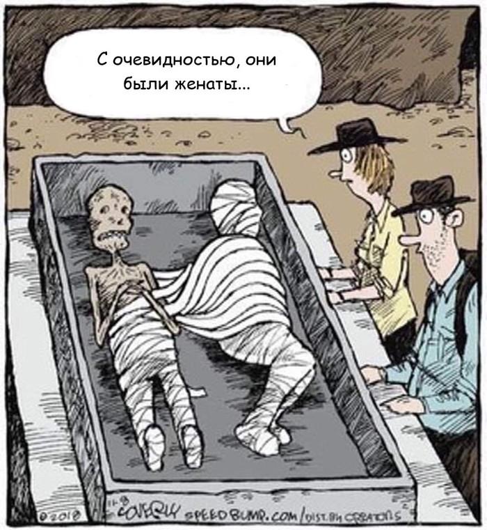 Перетягивание одеяла у мумий