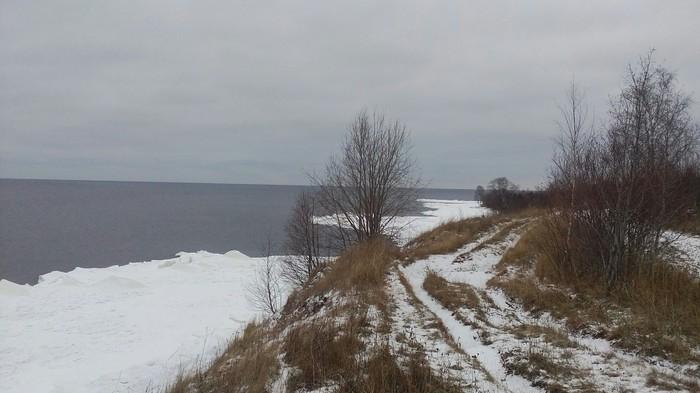 Зима почти дошла Зима, Фотография, Онежское озеро, Берег, Фоткал на леново а5000