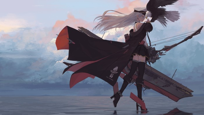 Enterprise Арт, Рисунок, Azur Lane, Enterprise, Dishwasher1910