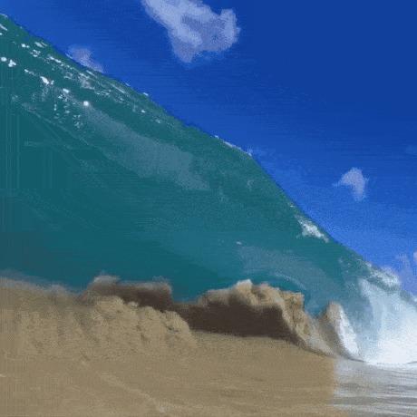 Сокрушительная волна на Гавайаях