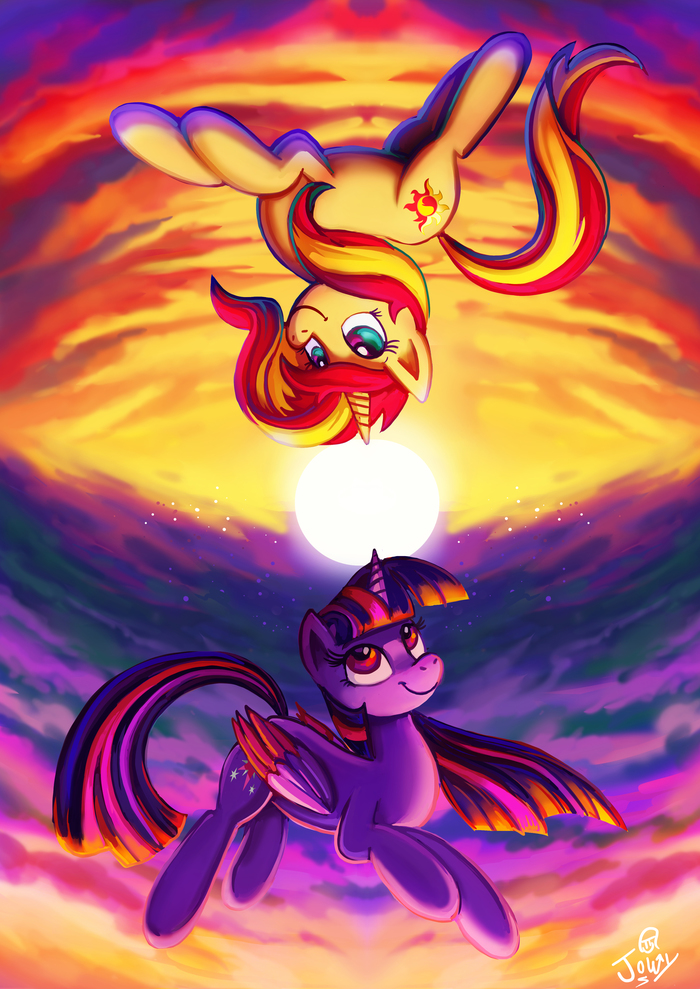 Nothing But The Sun My Little Pony, Sunset Shimmer, Twilight Sparkle, Jowybean