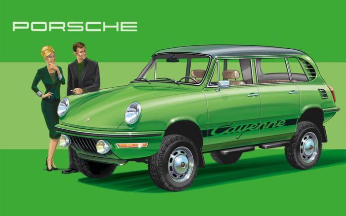 Если бы Porsche Cayenne сделали в 1972 году