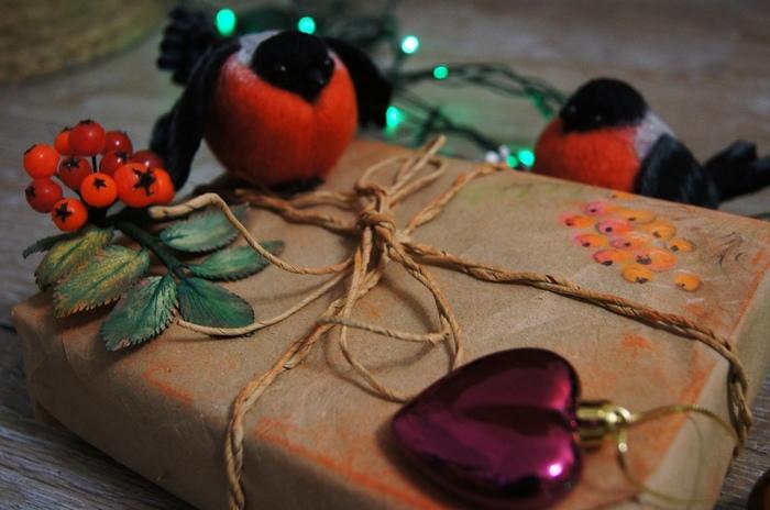 Новогодние снегири Handmade, Своими руками, Рукоделие, Сухое валяние, Валяние, Игрушка из шерсти, Снегири