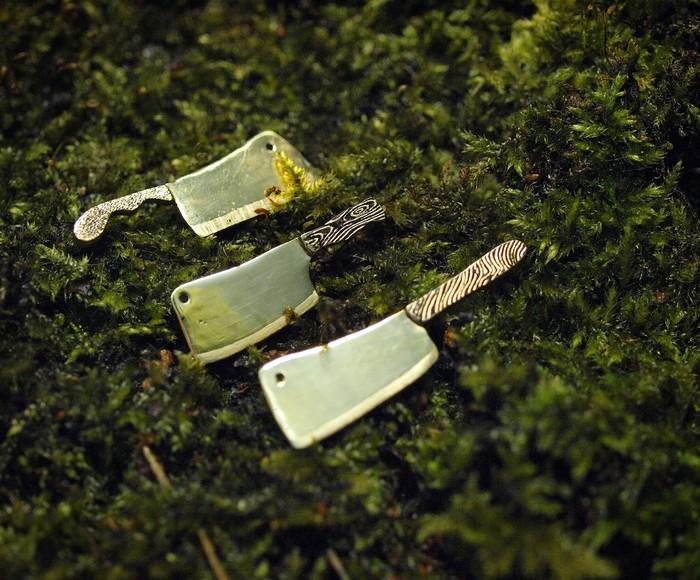 Миниатюрные ножи из латуни Рукоделие без процесса, Ручная работа, Своими руками, Нож, Миниатюра, Латунь, Handmade, Длиннопост