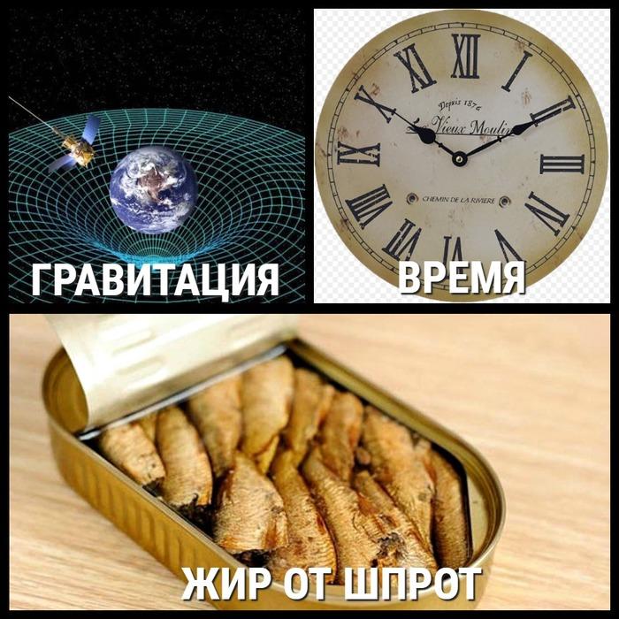 Есть три вещи, которые проникают через любые физические преграды... Гравитация, Время, Шпроты, Вещи