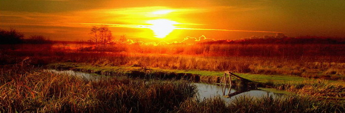 Закат на речке Беленькая Закат, Пейзаж