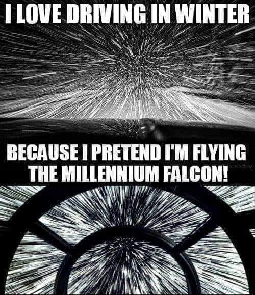 Обожаю ездить зимой... Star Wars, За рулем, Reddit