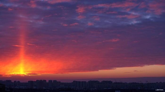 Фантастический рассвет, сегодня в Омске Омск, Рассвет, Фотография, Природа, Россия, Утро, Красота