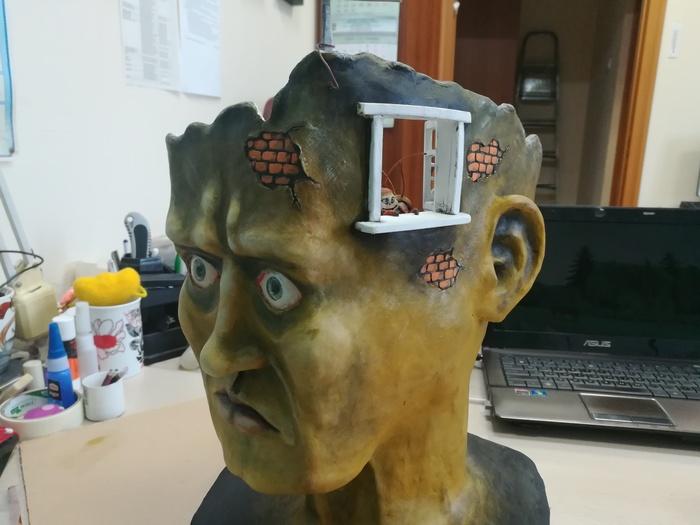 """Скульптура """"тараканы в голове"""" своими руками"""