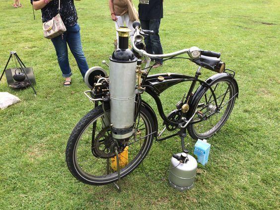 Велосипеды с паровым двигателем. Велосипед, Паровой двигатель