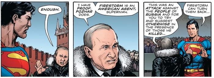 Американцы уже победили Россию (Супермен против Путина). Самая низкопробная пропаганда возвращается. Политика, Комиксы, Пропаганда, Злые русские, Мерзость, Дно, Пробито, Длиннопост
