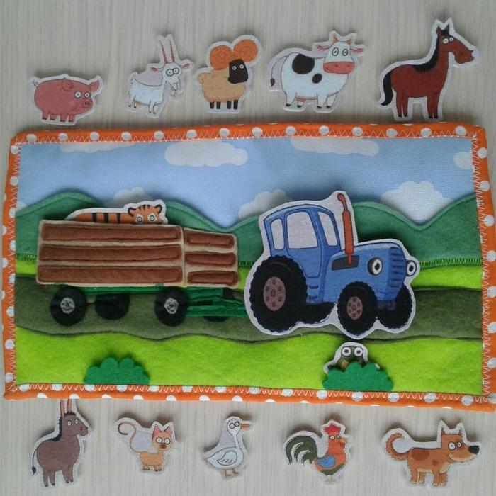 Синий трактор Фетр, Синий Трактор, Детям, Игрушки, Ручная работа, Рукоделие без процесса, Длиннопост
