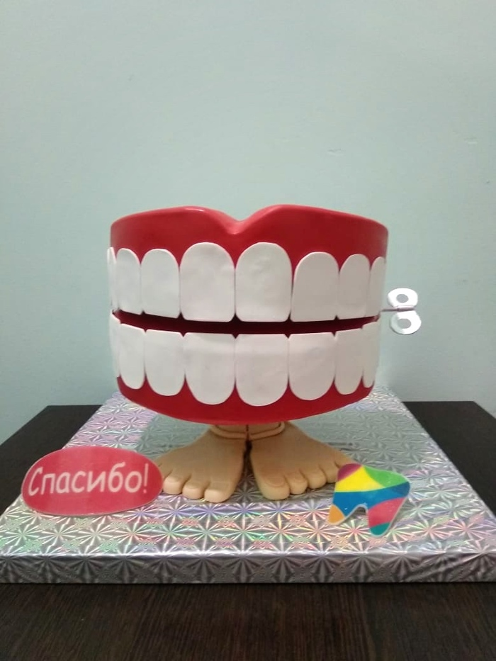 Торт для стоматолога Торт, Работа, Кондитер, Стоматолог, Челюсть