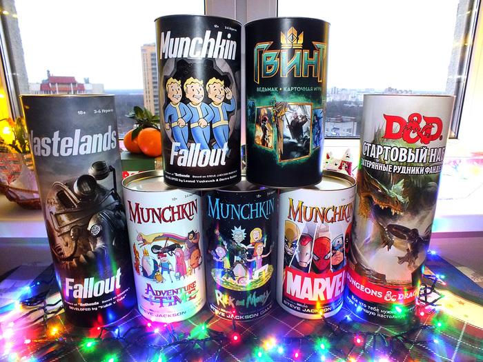 Новогодние подарки! ПнП Настольные игры. Своими руками, Подарок, Новый Год, Настольные игры, Fallout, Ведьмак, Marvel, Рик и Морти, Длиннопост