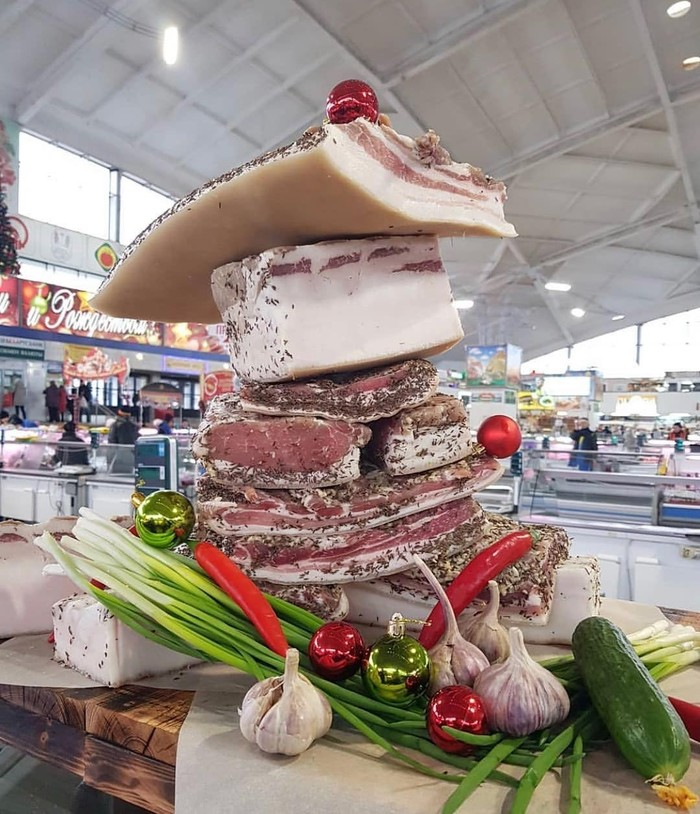 Праздник к нам приходит Сало, Рынок, Новогодняя елка, Новый Год, Минск, Беларусь