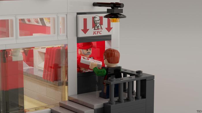 LEGO KFC LEGO, Рендер, Блендер, Blender, Mecabricks, KFC, Фастфуд, Виртуальная реальность, Длиннопост