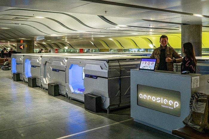 В аэропорту Пулково открылся капсульный отель Санкт-Петербург, Пулково, Капсульный отель, Жить в России
