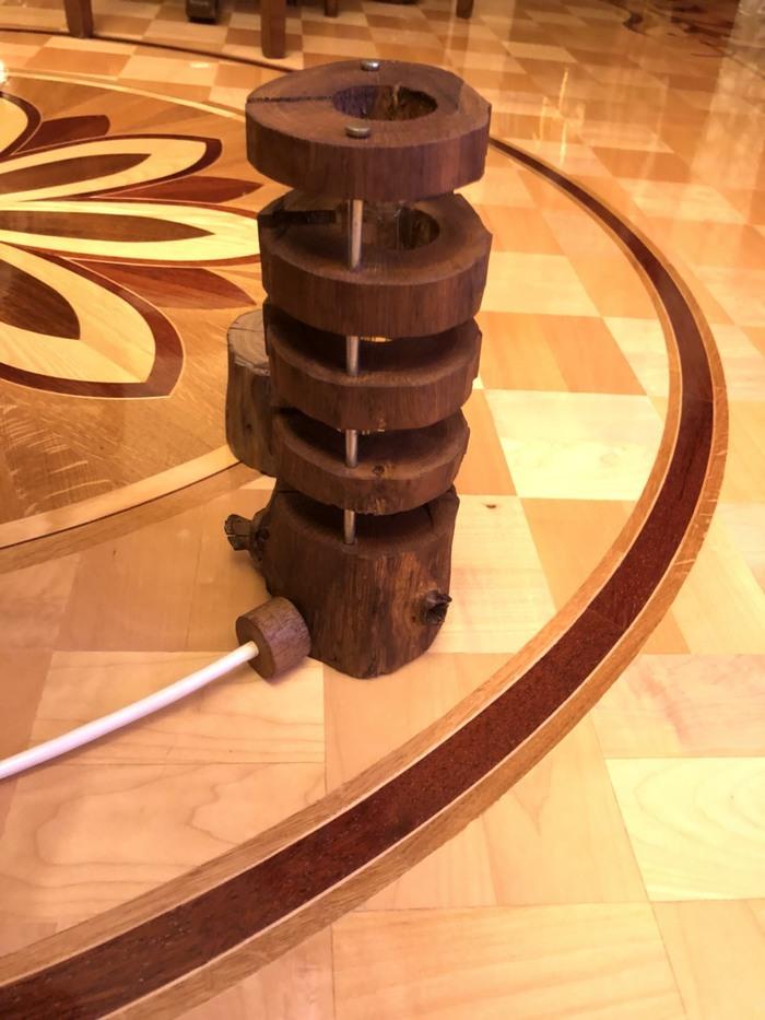 Лампа из ветки дуба Лампа, Работа с деревом, Длиннопост