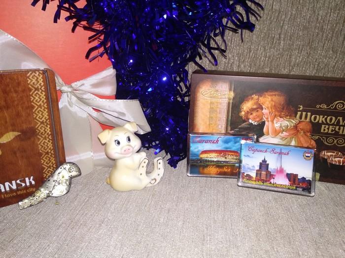 Подарок от Анонимного Дедушки Мороза из Саранска в Минск Отчёт об обмене подарками, Обмен подарками, Новогодний обмен подарками, Подарок, Новый Год, Приятное, Длиннопост