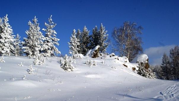 Зима. Абзаково Зима, Природа, Абзаково