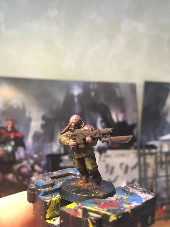 Гвардеец-предатель капитан Дантин Warhammer 40k, Wh miniatures, Покраска миниатюр, Kill Team, Death Guard, Astra Militarum, Длиннопост
