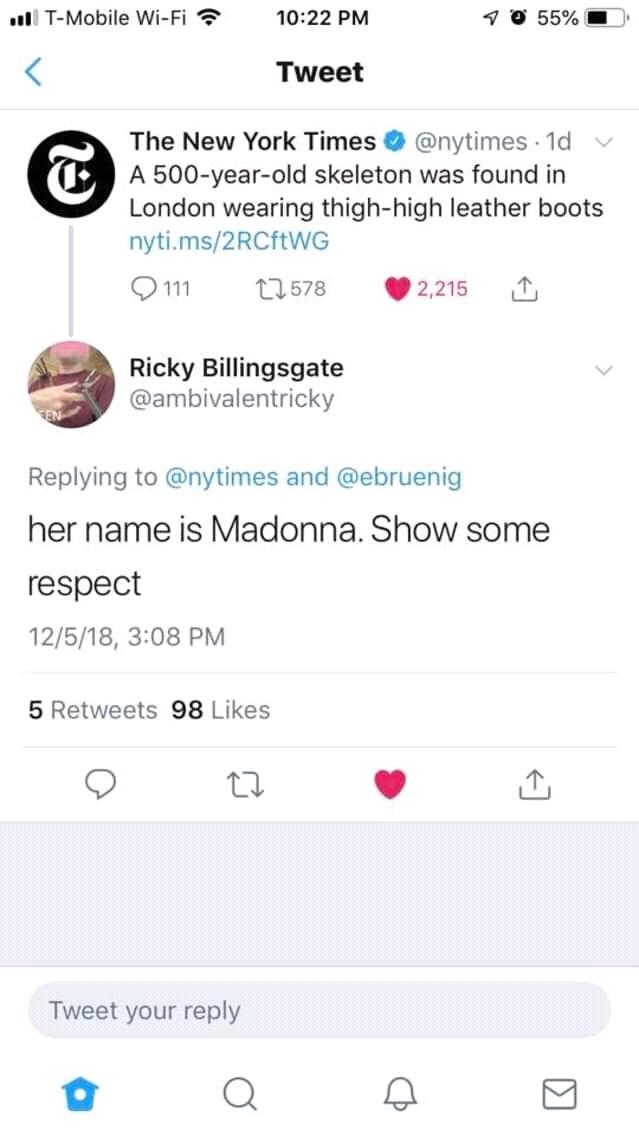Проявите уважение! Imgur, Мадонна, Twitter, Скриншот